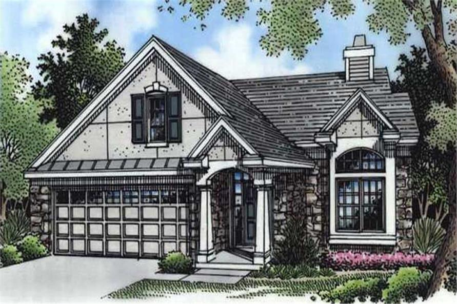 This is the colored elevation of Bungalow Homeplans LS-B-94026.