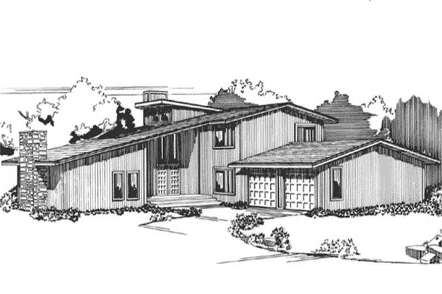 3-Bedroom, 3250 Sq Ft Contemporary Home Plan - 146-1253 - Main Exterior