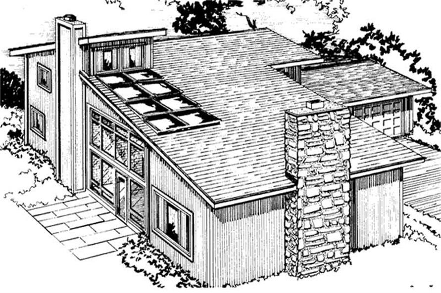 Home Plan Rear Elevation of this 3-Bedroom,3250 Sq Ft Plan -146-1253