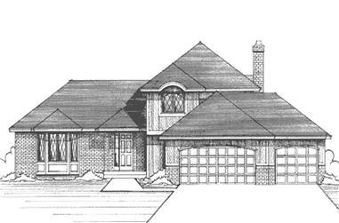 3-Bedroom, 2087 Sq Ft Craftsman Home Plan - 146-1254 - Main Exterior