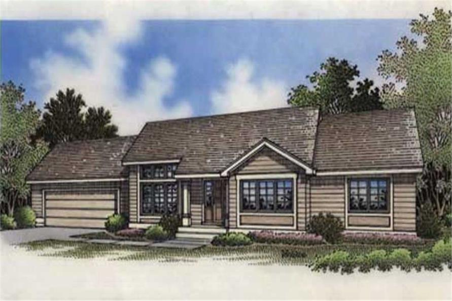 This shows the elevation of Ranch Homeplans LS-B-94030.