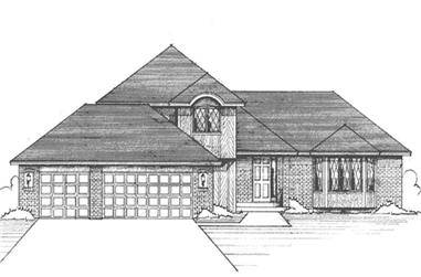 3-Bedroom, 2138 Sq Ft Craftsman Home Plan - 146-1257 - Main Exterior
