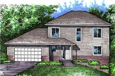3-Bedroom, 2212 Sq Ft Farmhouse Home Plan - 146-1262 - Main Exterior