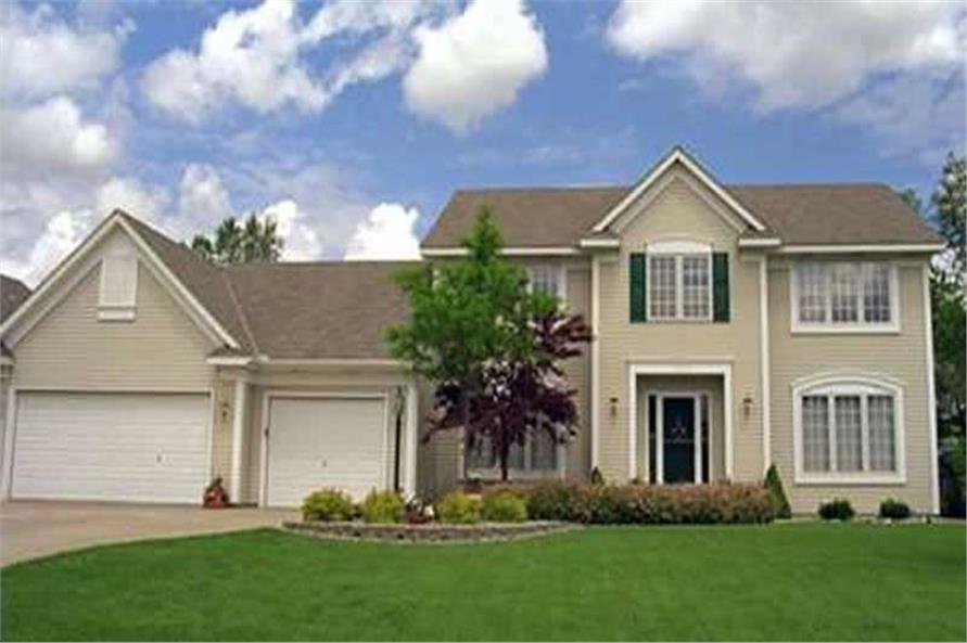 4-Bedroom, 2249 Sq Ft Colonial House Plan - 146-1264 - Front Exterior