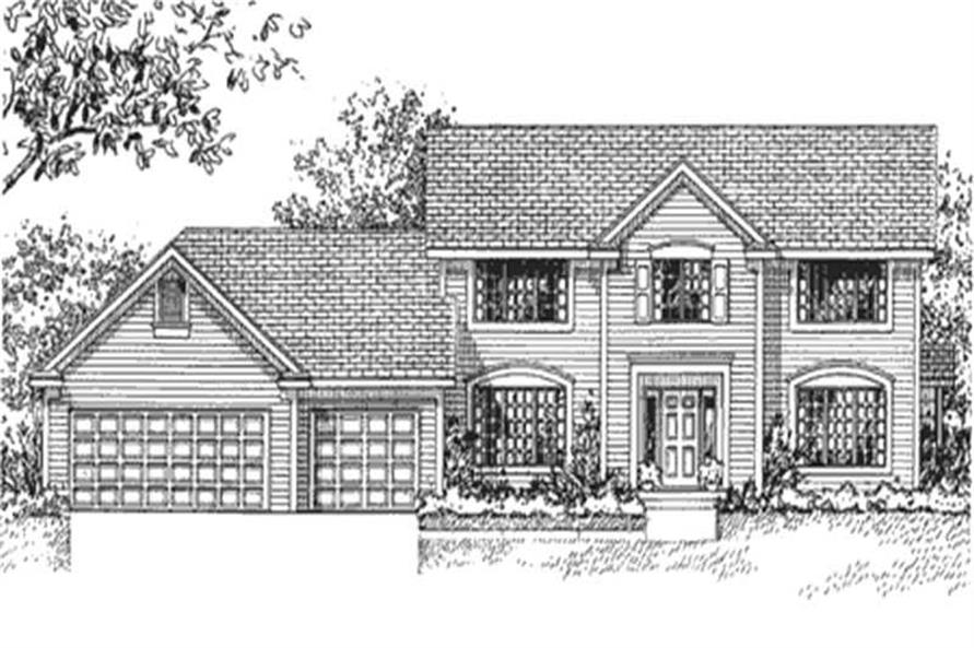 Home Plan Front Elevation of this 4-Bedroom,2249 Sq Ft Plan -146-1264