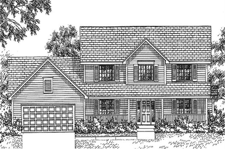 Home Plan Front Elevation of this 4-Bedroom,2278 Sq Ft Plan -146-1266