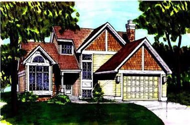 2-Bedroom, 1855 Sq Ft Country Home Plan - 146-1274 - Main Exterior