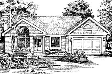 3-Bedroom, 1325 Sq Ft Country Home Plan - 146-1277 - Main Exterior