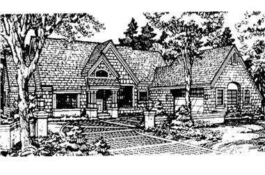 2-Bedroom, 1879 Sq Ft Country House Plan - 146-1278 - Front Exterior