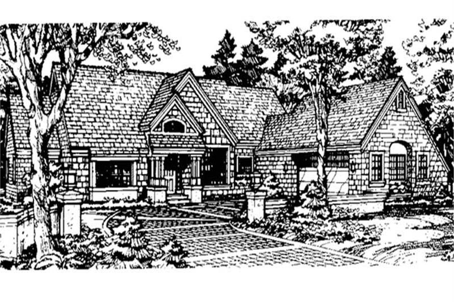 Country Homeplans LS-B-89503 front elevation image.