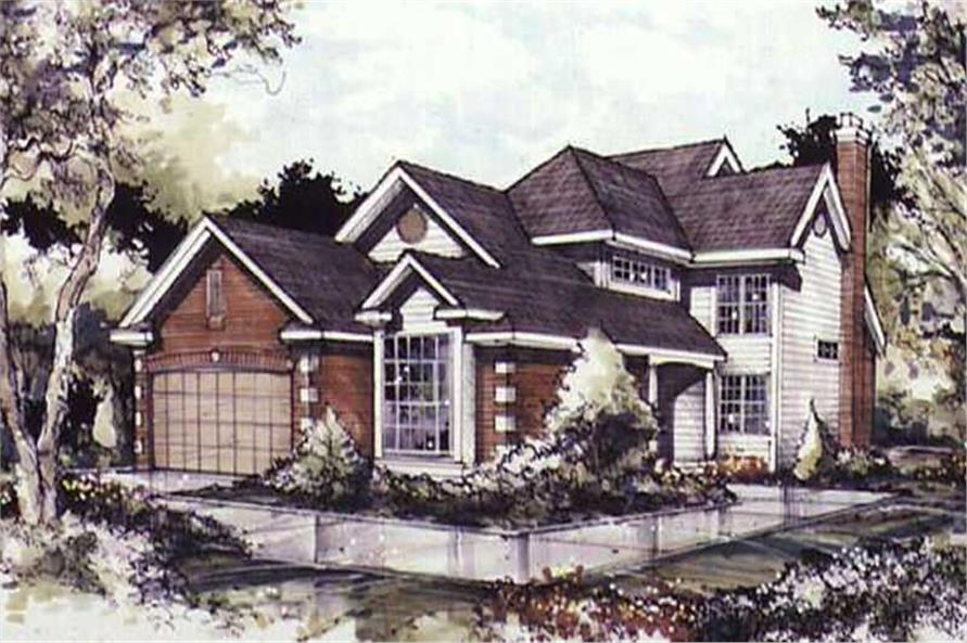 Colored rendering of Country Home Plans LS-B-89078.