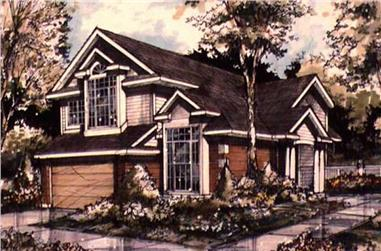 3-Bedroom, 1970 Sq Ft Country House Plan - 146-1280 - Front Exterior
