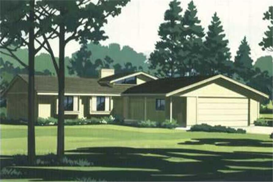 3-Bedroom, 1330 Sq Ft Contemporary Home Plan - 146-1284 - Main Exterior