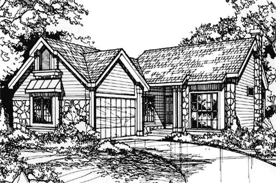 Front Elevation for Country Home Plans LS-B-89070.