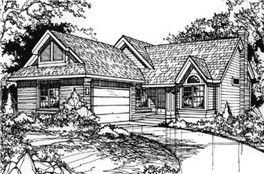 3-Bedroom, 1830 Sq Ft Country Home Plan - 146-1293 - Main Exterior