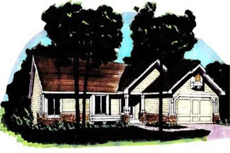 2-Bedroom, 1154 Sq Ft Country Home Plan - 146-1296 - Main Exterior