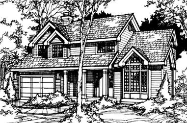 4-Bedroom, 2289 Sq Ft Country Home Plan - 146-1297 - Main Exterior