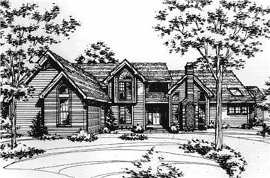 3-Bedroom, 3062 Sq Ft Cape Cod Home Plan - 146-1298 - Main Exterior