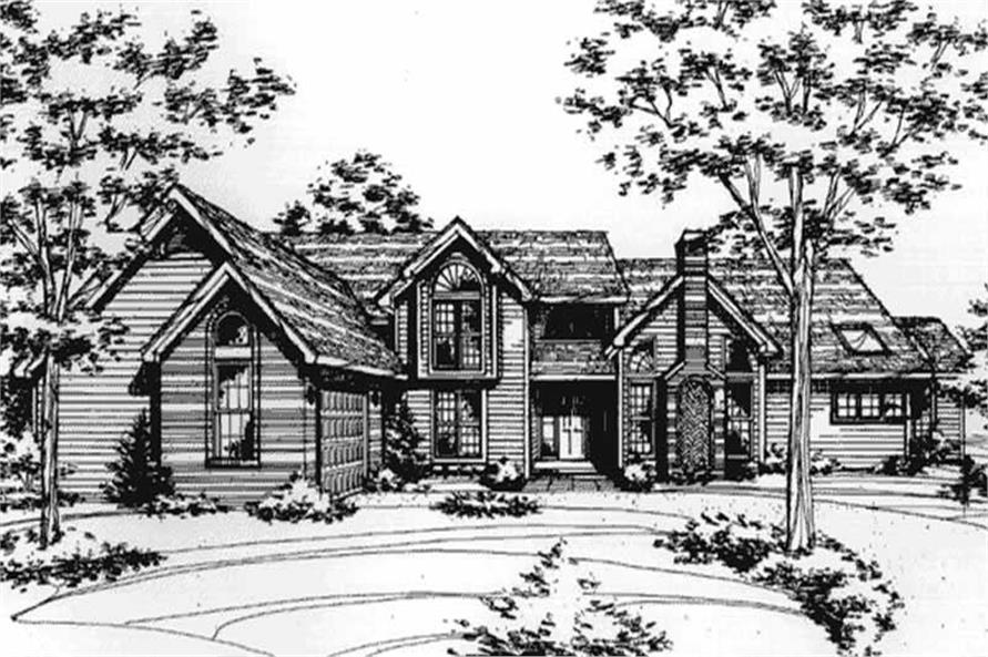 Front Elevation for Country Homeplans LS-B-89063.