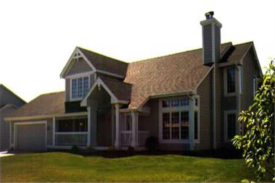 Photo of the front elevation of Country House Plans.