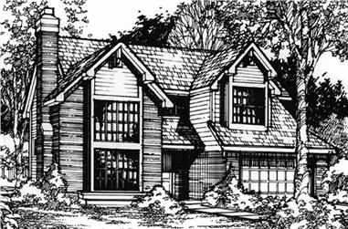 3-Bedroom, 2309 Sq Ft Country Home Plan - 146-1301 - Main Exterior