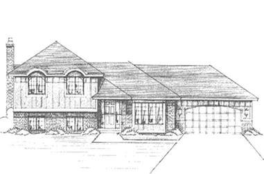 3-Bedroom, 1308 Sq Ft Craftsman House Plan - 146-1302 - Front Exterior