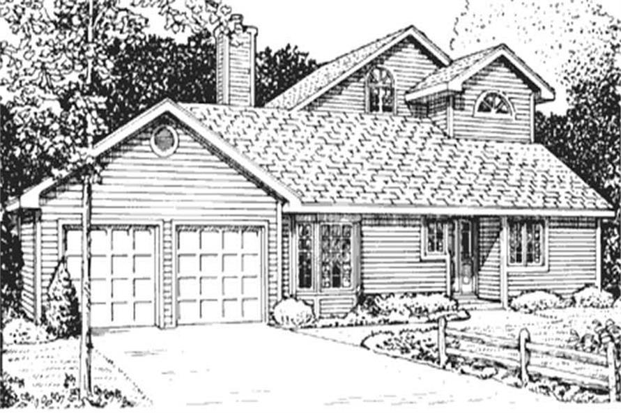 3-Bedroom, 1771 Sq Ft Home Plan - 146-1317 - Main Exterior