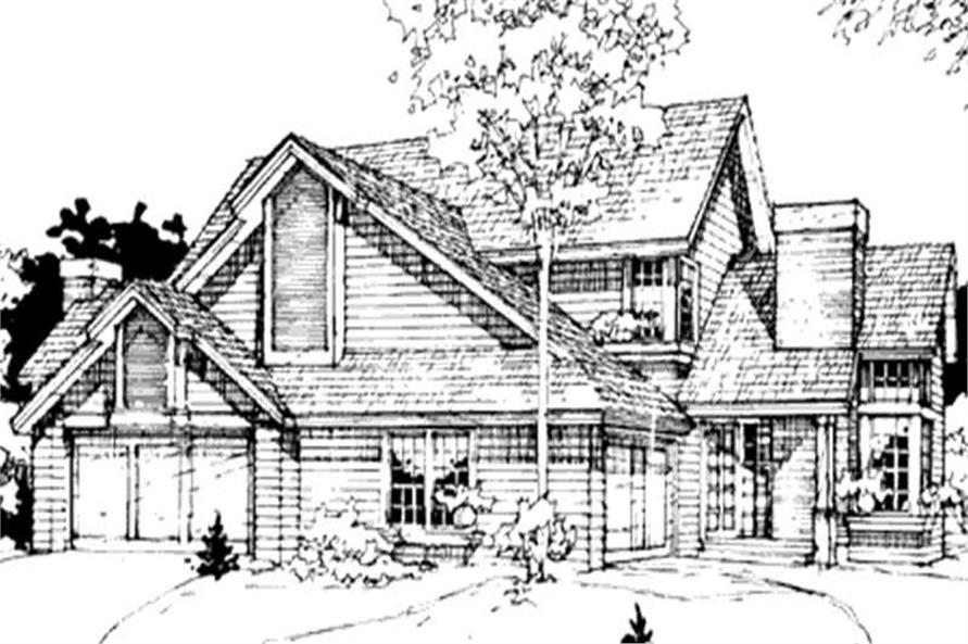 2-Bedroom, 1968 Sq Ft Country House Plan - 146-1318 - Front Exterior