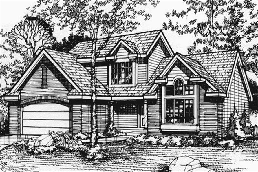 Country Home Plans LS-B-90037 Front Elevation.