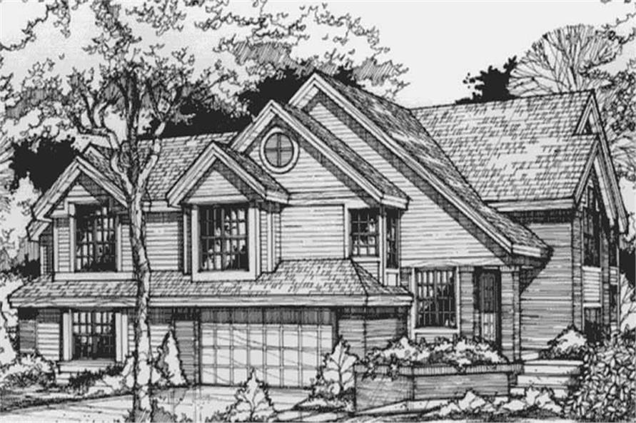 This is the Front Elevation for Country Homeplans LS-B-93006.