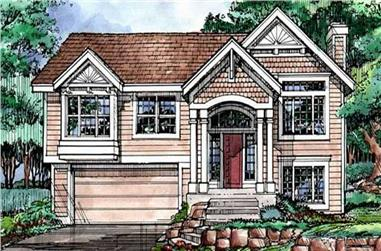 3-Bedroom, 1663 Sq Ft Cape Cod House Plan - 146-1329 - Front Exterior