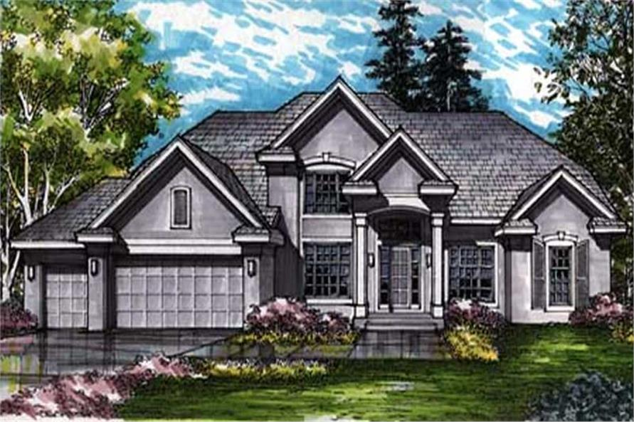 This is a colored rendering of European Homeplans LS-B-92018.