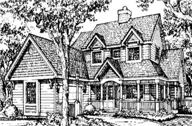 4-Bedroom, 3233 Sq Ft Country Home Plan - 146-1333 - Main Exterior