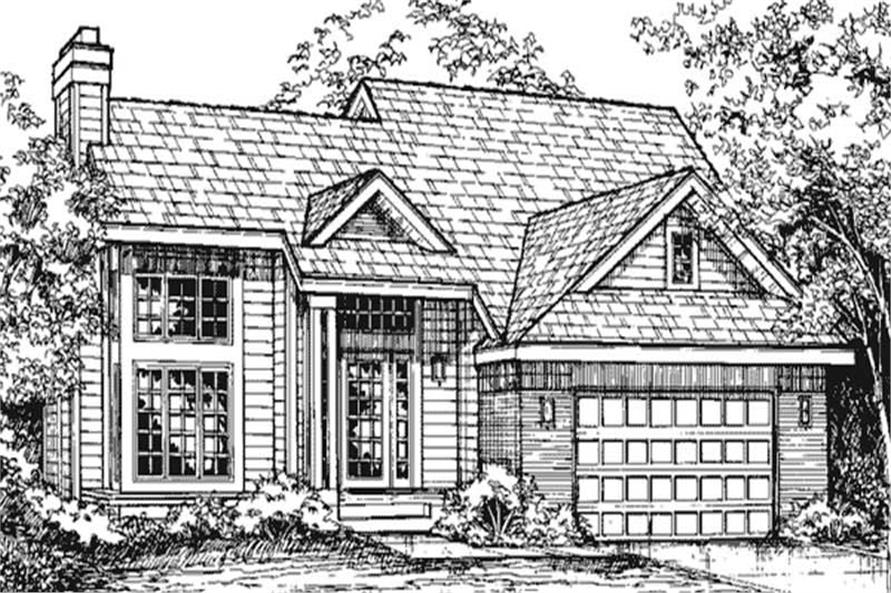 This image shows the front elevation of Country House Plans LS-B-92032.