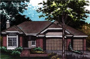 2-Bedroom, 2228 Sq Ft Country House Plan - 146-1336 - Front Exterior