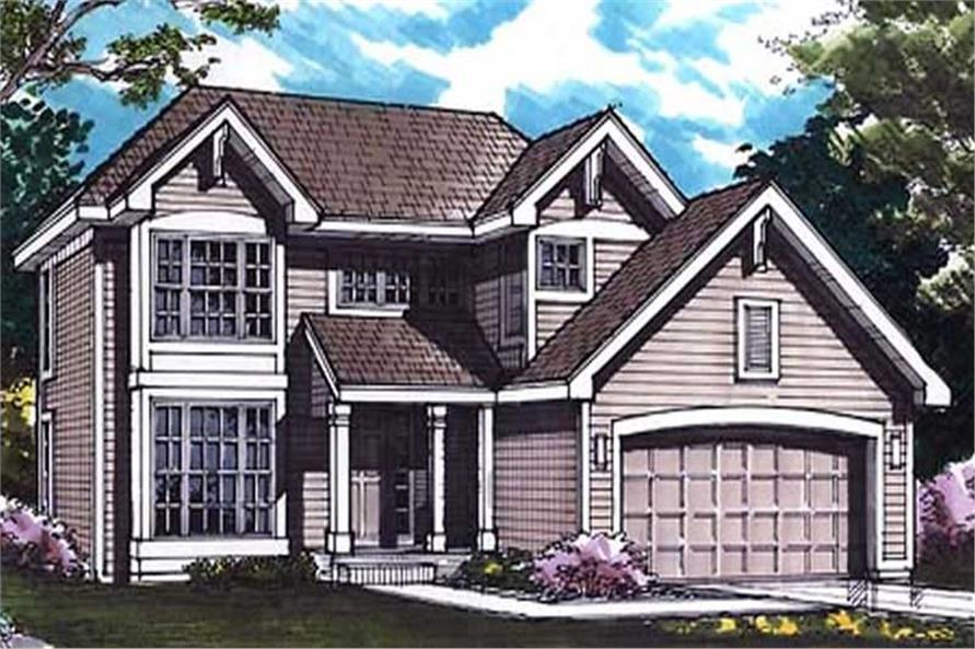 4-Bedroom, 1923 Sq Ft Country House Plan - 146-1338 - Front Exterior