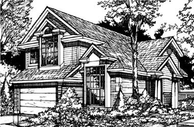 3-Bedroom, 2018 Sq Ft Country Home Plan - 146-1339 - Main Exterior