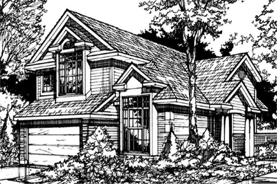 Country Houseplans LS-B-90021 front elevation.