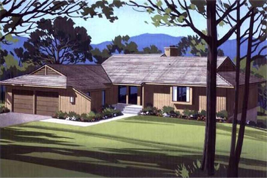 3-Bedroom, 2766 Sq Ft Ranch Home Plan - 146-1342 - Main Exterior