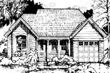2-Bedroom, 1275 Sq Ft Country House Plan - 146-1343 - Front Exterior