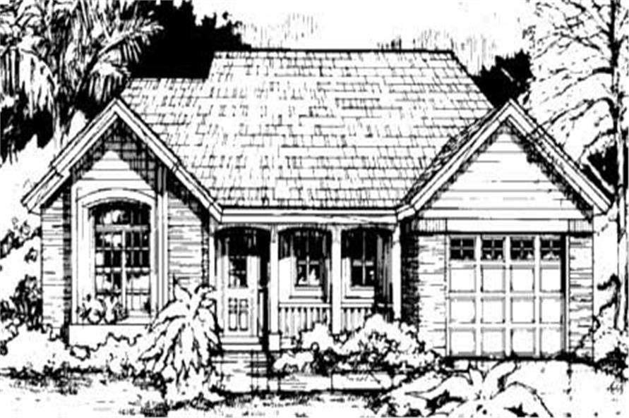 This is the front elevation for Ranch Home Plans LS-B-92020.
