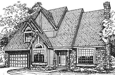 4-Bedroom, 3186 Sq Ft Country House Plan - 146-1346 - Front Exterior