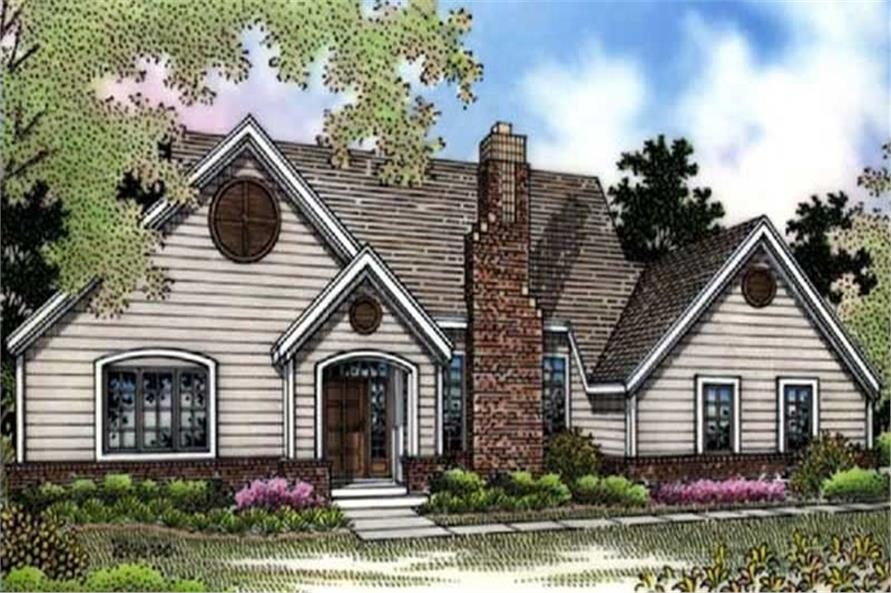 This is a colored rendering of Country Home Plans LS-B-94029.