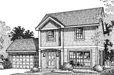 3-Bedroom, 1352 Sq Ft Colonial House Plan - 146-1352 - Front Exterior