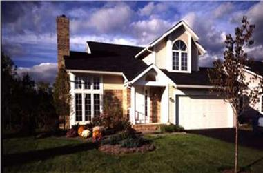 3-Bedroom, 1556 Sq Ft Country House Plan - 146-1354 - Front Exterior