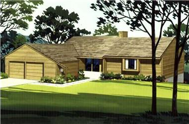 3-Bedroom, 2541 Sq Ft Contemporary Home Plan - 146-1359 - Main Exterior