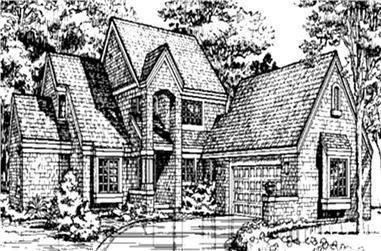 3-Bedroom, 2321 Sq Ft Cape Cod House Plan - 146-1360 - Front Exterior