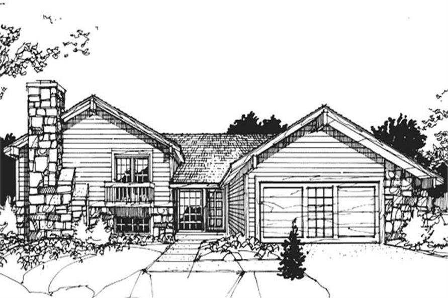 3-Bedroom, 2506 Sq Ft Ranch House Plan - 146-1366 - Front Exterior