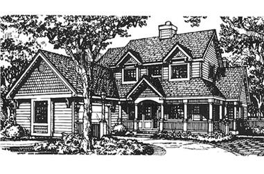 4-Bedroom, 3065 Sq Ft Country House Plan - 146-1368 - Front Exterior