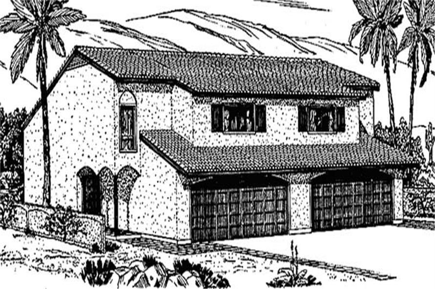 3-Bedroom, 1410 Sq Ft Multi-Unit House Plan - 146-1369 - Front Exterior